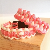 Breast Cancer Awareness Pink/White - Single Duty 550 bracelet