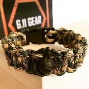 USMC - Digital Camo with EGA  paracord Bracelet