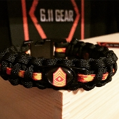USMC - Enlisted Rank Insignia Paracord Bracelet
