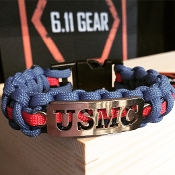 USMC - Laser Cut Royal Blue W/ Blood Stripe Paracord Bracelet