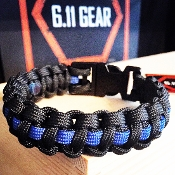 Thin Blue Line Law Enforcement 550 Paracord Bracelet