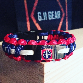 US Army - engraved 82nd Airborne Paracord Bracelet