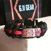 Fire Fighters - Engraved emblem Paracord Bracelet