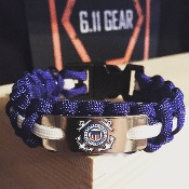 U.S. Coast Guard - engraved plate Royal blue Paracord Bracelet