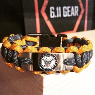 US Navy -Engraved Navy Logo -Navy Blue/Gold Paracord Bracelet
