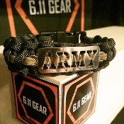 US Army laser Cut OD Green/Coyote Brown Paracord
