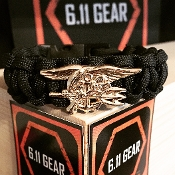 US Navy Seal Trident - 550 Paracord Bracelet