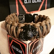 USMC - Wide duty EGA Od Green/ Coyote Paracord Bracelet