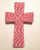 Pink Camo BreastCancer awarness - 550 Paracord Cross