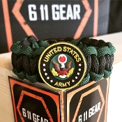 "Kid's ""US Army"" Emblem paracord Bracelet"