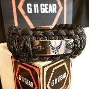 USAF-Wide duty (King Cobra) digital wings on BlackParacord