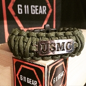 USMC - Wide duty (King Cobra) Laser cut OD Green Paracord