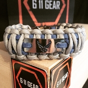 USAF - Wide duty (King Cobra) digital wings engraved Paracord