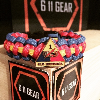 US Army - 1st Armored Division Concho Paracord Bracelet