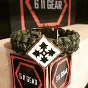 US Army - 4th ID Concho Paracord Bracelet