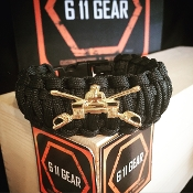 "US Army ""Armored Cavalry"" King Cobra paracord Bracelet"