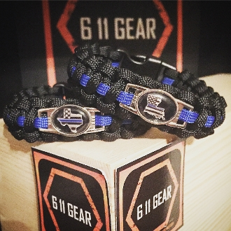 Thin Blue Line for all 50 States Paracord Bracelet