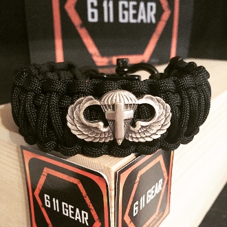 Chaplin's Cross Basic Jump Wings Paracord Bracelet