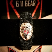 USMC Military Police Badge Paracord Bracelet