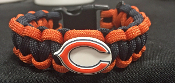 Chicago Bears Jibbitz 550 Paracord Bracelet