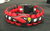 Arizona Cardinals Jibbitz - 550 Paracord Bracelet