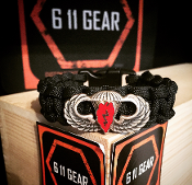 25th ID Airborne Basic Jump Wings Paracord Bracelet