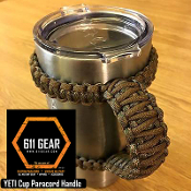 Coyote Brown/Woodland Camo Yeti /RTIC Tumbler Cup Paracord