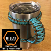 Teal/Brown Yeti /RTIC Tumbler Cup Paracord Handle
