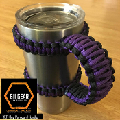 Purple/Black Yeti /RTIC Tumbler Cup Paracord Handle