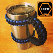 Thin Blue line Yeti /RTIC Tumbler Cup Paracord Handle