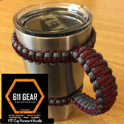 Maroon/Gray Yeti /RTIC Tumbler Cup Paracord Handle