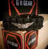 US Army Aviation wings paracord bracelet