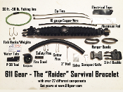 "The ""Raider"" Survival Bracelet - 27 Components"