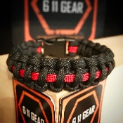 Thin Red Line Fire Dept Paracord Bracelet