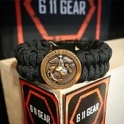 USMC-Concho Fish-belly Paracord Bracelet