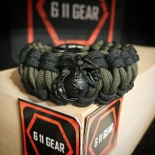 USMC Quad Braid with EGA - 550 Paracord Bracelet