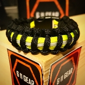 Black Bunker Gear -Fire Dept 550 Paracord Bracelet