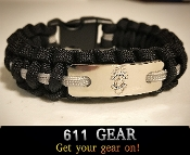 Corrections Officer Paracord Bracelet