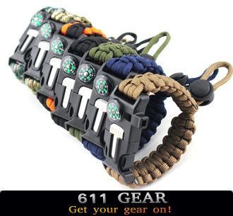 Adjustable Survival Paracord Bracelet