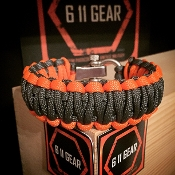 Dark Grey/Orange 550 King Cobra Paracord Bracelet