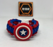 "Kid's ""Captain America"" Paracord Bracelet"