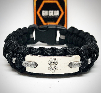Corrections Officer Thin Gray Line Paracord Bracelet
