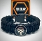 Punisher Concho Black Paracord Bracelet