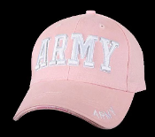 Army - Ladies Embroidered Low Profile Pink Cap