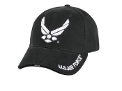 USAF - Black USAF Logo low profile Cap