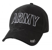 Army - Black Army Embroidered Low Profile Cap