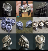 The Predator Pewter Helmet Bead