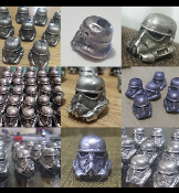 Storm Trooper Pewter Helmet Bead