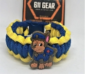 "Paw Patrol ""Chase"" Kid's Paracord Bracelet"