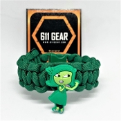 "Inside Out ""disgust"" Kid's Paracord Bracelet"